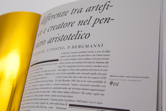 THE BOOK BY  <br> PIERO GOLIA